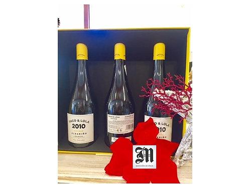 Estuche de Lujo 3 Botellas Paco y Lola Vintage