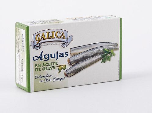 Agujas en Aceite de Oliva