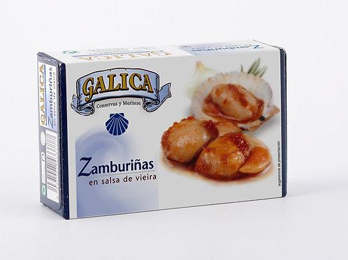 Zamburiñas enSalsa de Vieira Galica