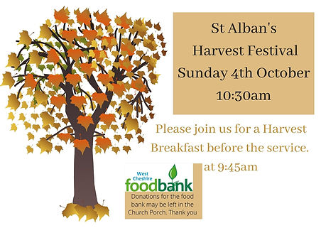 Join us at St Alban's for our Harvest Fe
