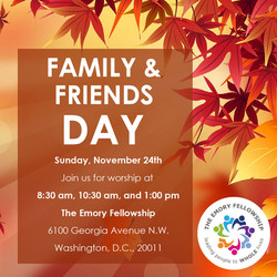 Family & Friends Sunday Graphic