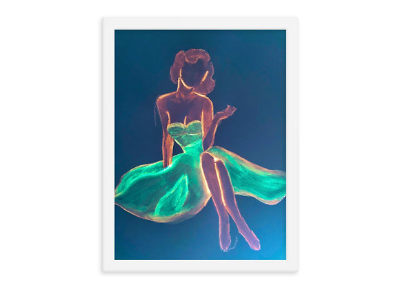Pin Up Girl Framed Poster Print