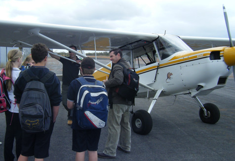 Students with DEC firespotter pilot
