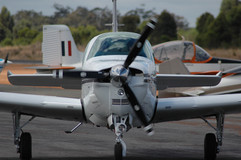 Beechcraft on the tarmac Manjimup Aero Club