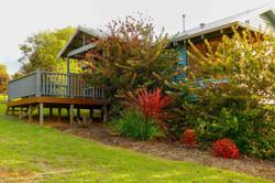 Private gardens around each Chalet