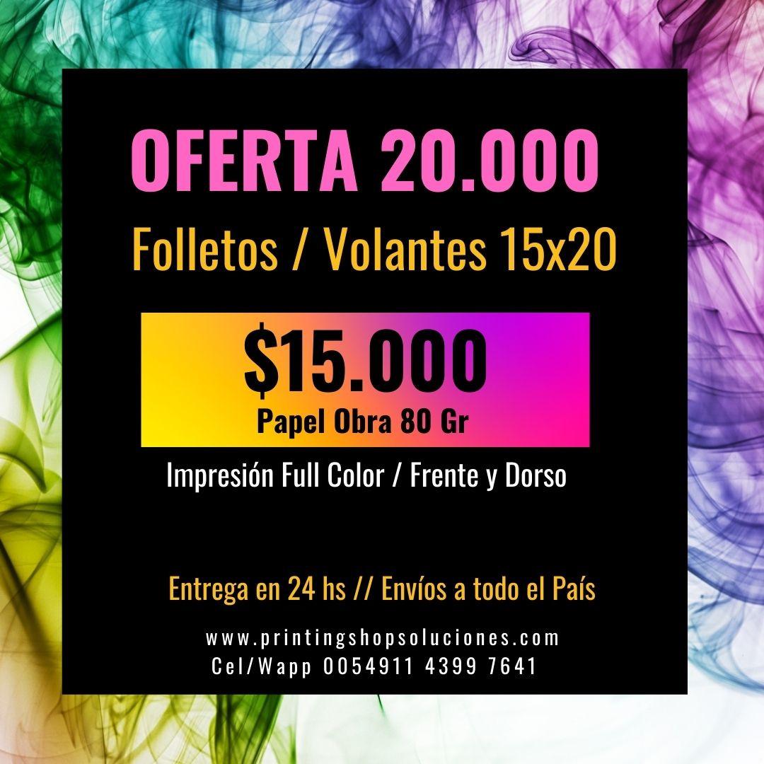FOLLETOS FULL COLOR PAPEL OBRA