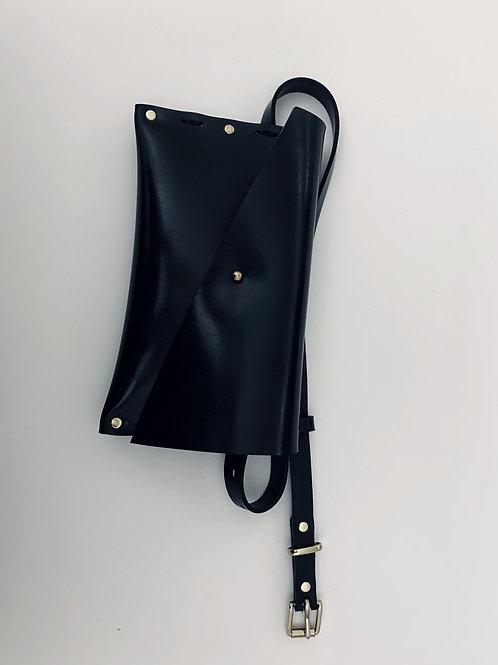 Black/Brass Clutch/ Waist Belt