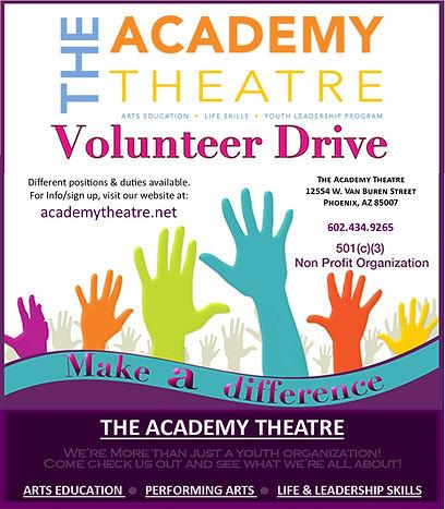 Volunteer drive poster2 - shorter versio