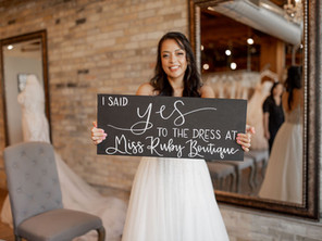 "Can you say ""YES"" at your very first bridal appointment?"