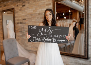 """Can you say """"YES"""" at your very first bridal appointment?"""