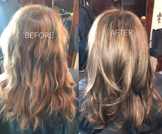 Highlights trim and style Blonde Bar of Katy, TX