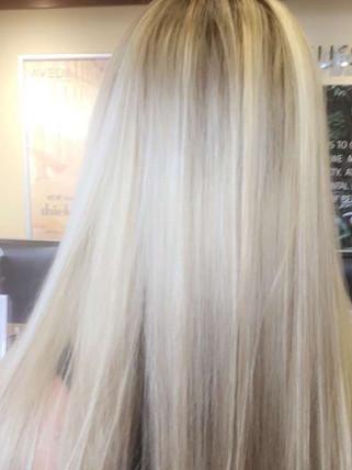 Partial foil  high density Blonde Bar of Katy, TX