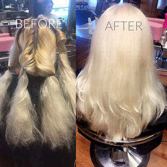 Root touch up - Blonde Bar of Katy, TX