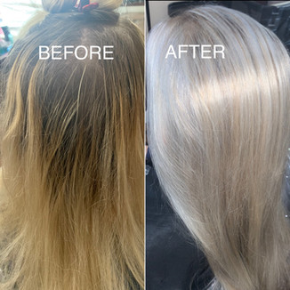 Before and After - Blonde Bar of Katy, TX