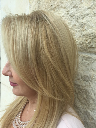 Highlights low lights and trim Blonde Bar of Katy, TX