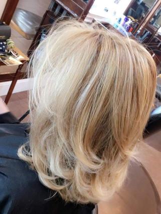 Moneypiece partial color - Blonde Bar of Katy, TX