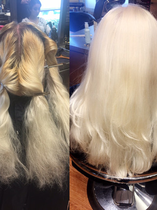 Root touch up Blonde Bar of Katy, TX