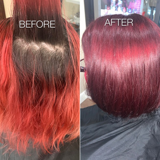 Dramatic redhead transformation - Blonde Bar of Katy, TX