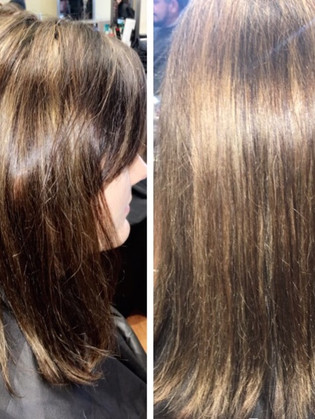 All over highlights and conditioning treatment