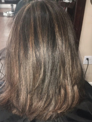 Cut, color and highlights