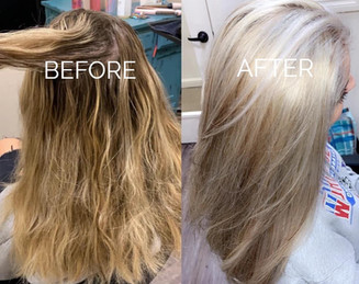 Icy white transformation - Blonde Bar of Katy, TX