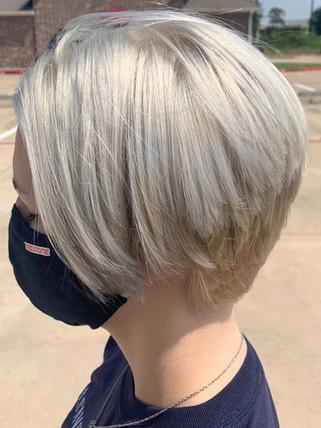 Bob color and cut - Blonde Bar of Katy, TX