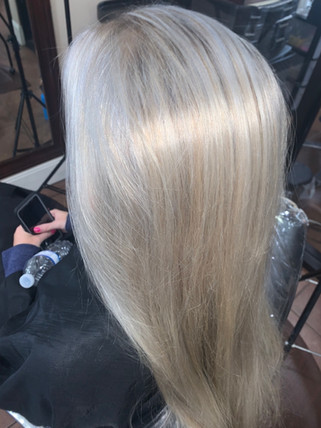 Icy Blond Highlights Blonde Bar of Katy, TX