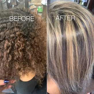 Dramatic before and after - Blonde Bar of Katy, TX