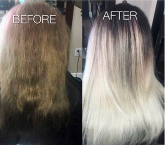 Icy blond transformation - Blonde Bar of Katy, TX