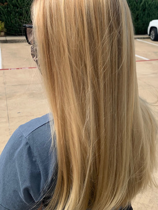 Highlights and trim - Blonde Bar of Katy, TX
