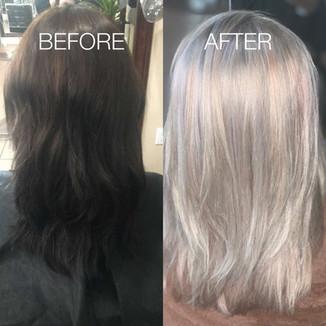 Full color transformation - Blonde Bar of Katy, TX