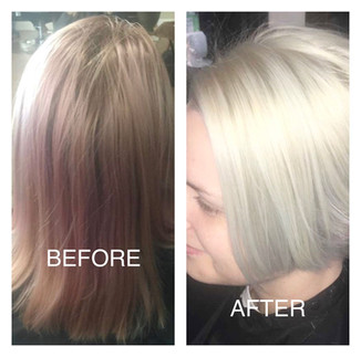 Cut and color correction - Blonde Bar of Katy, TX