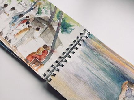 Carnet de voyage-Kerala | Jozefa peintures