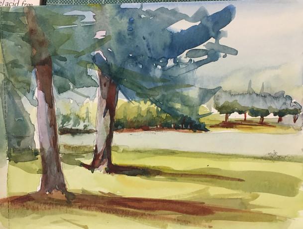 Arbres du lac | Jozefa peintures