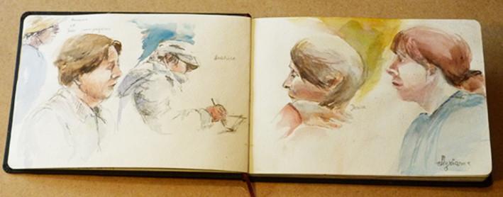Carnet à Auberive_Jozefa peintures