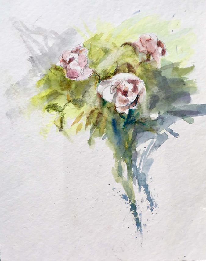bouquet aquarelle | Jozefa peintures