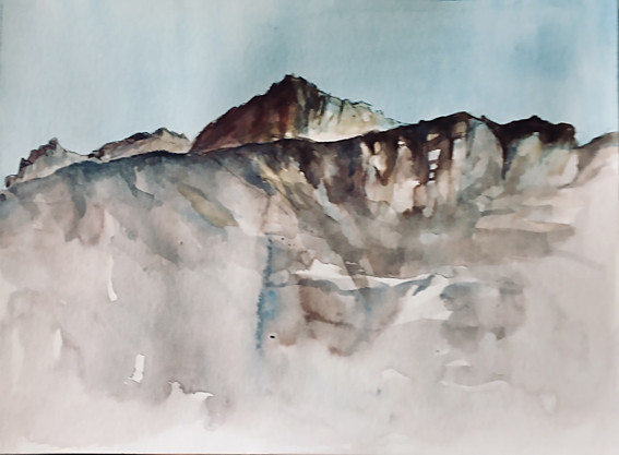 Montagnes - Suisse | Jozefa Aquarelles