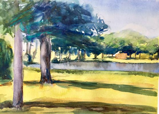 Arbres du lac   Jozefa peintures