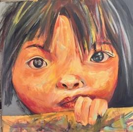 Visage d'enfant   Jozefa peintures