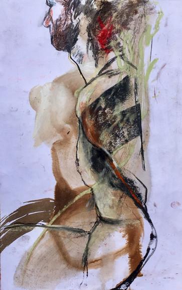 Torse d'homme en mouvement   Jozefa peintures