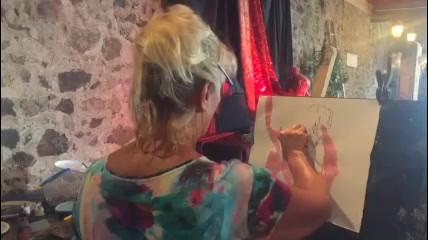 Jozefa en atelier - technique oneshot