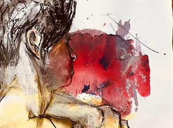 Femme de profil-30x40 | Jozefa peintures