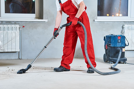 building cleaning service. dust removal