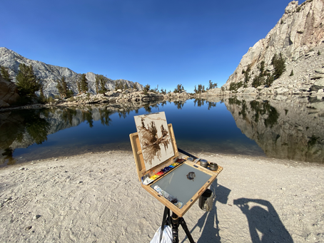 Check out this stunning video my friend Nikolas Smith made of me Plein Air Painting in the Sierras.