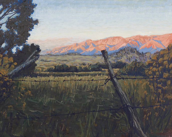 Sunset near lone pine
