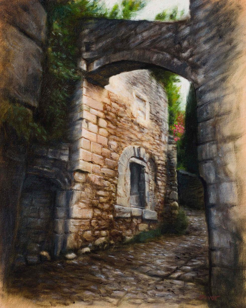 The climb to l'Église d'Oppède le vieux