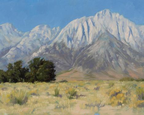 Mount Whitney fron the plains.