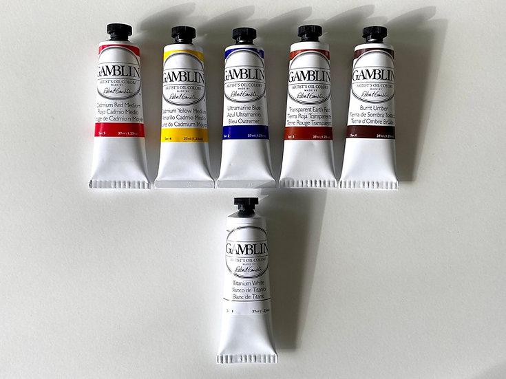 Richard J Oliver basic half set of Gamblin Artist Oils