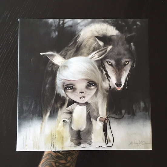 'Wolf and the Rabbit' 2013 contemporary wrap