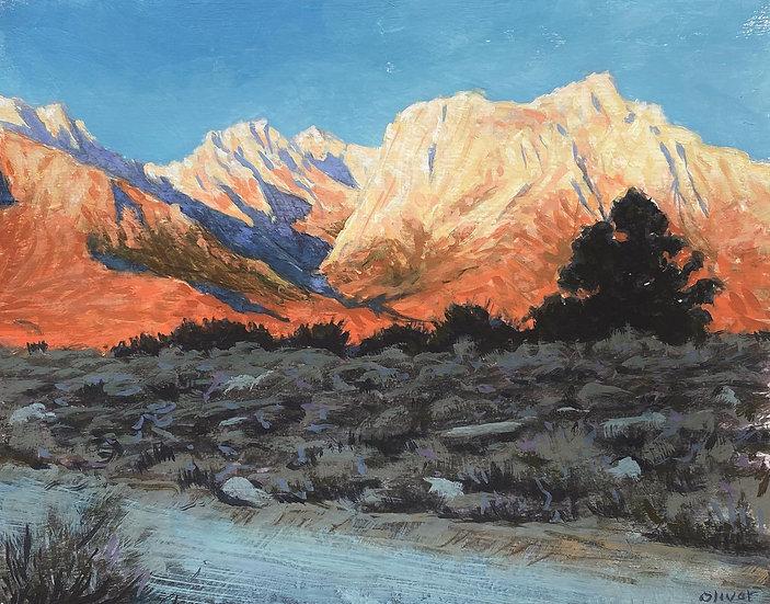 Sunrise on the Eastern Sierras